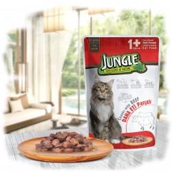 Jungle Pouch Soslu Dana Etli Yaş Kedi Maması 100 gr